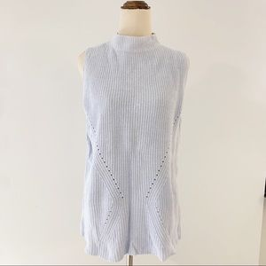 Just Jeans Light Blue Sleeveless Knit Top